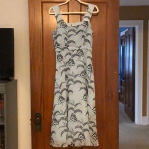 Rachel Roy Sleeveless Botanical Print Dress